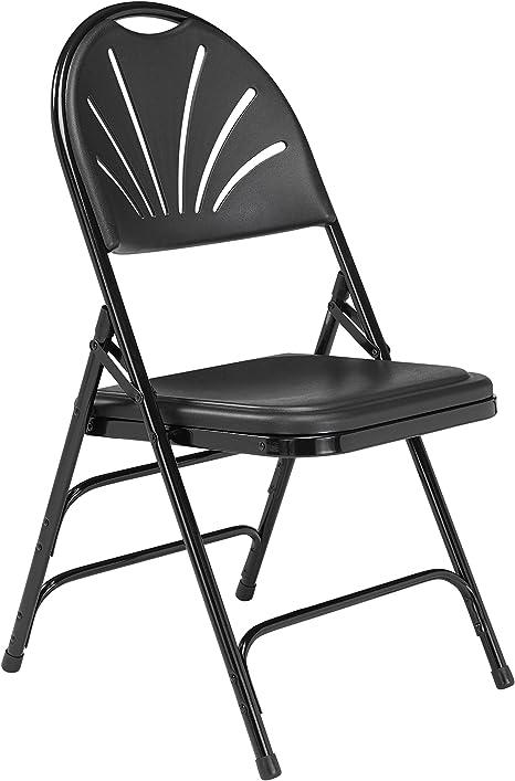 Acolchado silla plegable negro pñegable silla Poly silla de camping