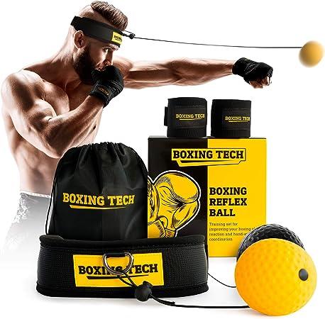 Fight Ball Reflex Boxing REACT Training Boxer Speed Punch Head Cap Brand New