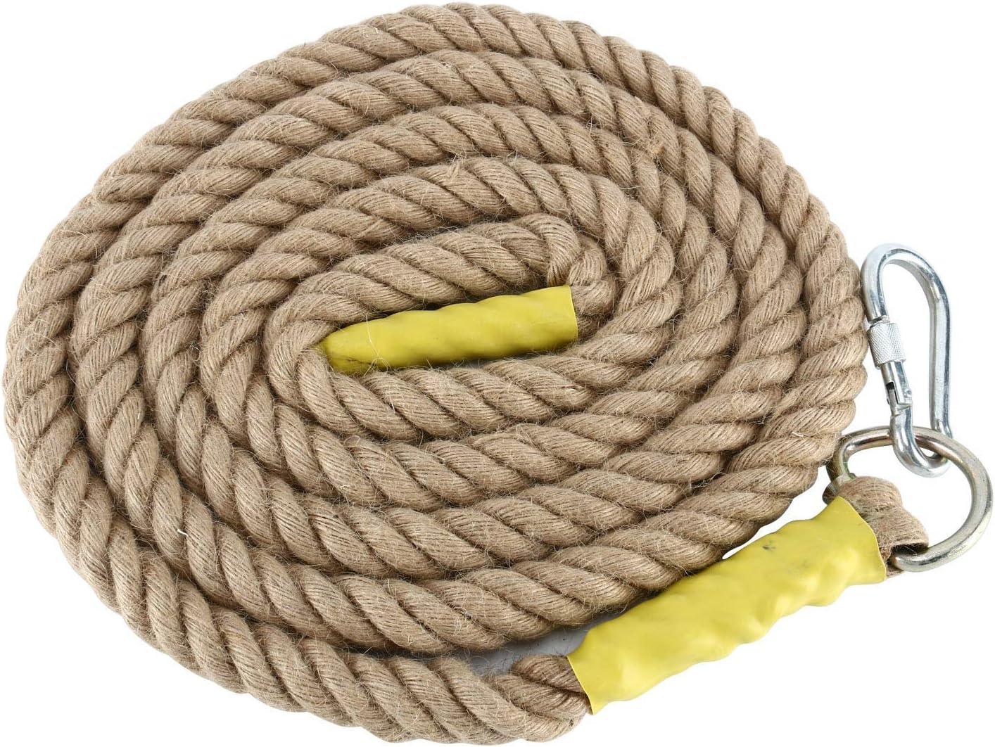 10, 1.2 PULGADAS NiceDD Cuerdas de escalada para gimnasio de 10//13 pies para trabajo pesado con mosquet/ón para adultos Mejore el agarre y aumente la potencia