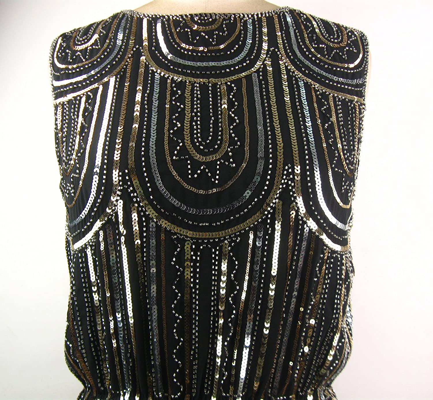 Whitewed Women's Vintage Art Deco Beaded Flapper Great Gatsby Costume Dress