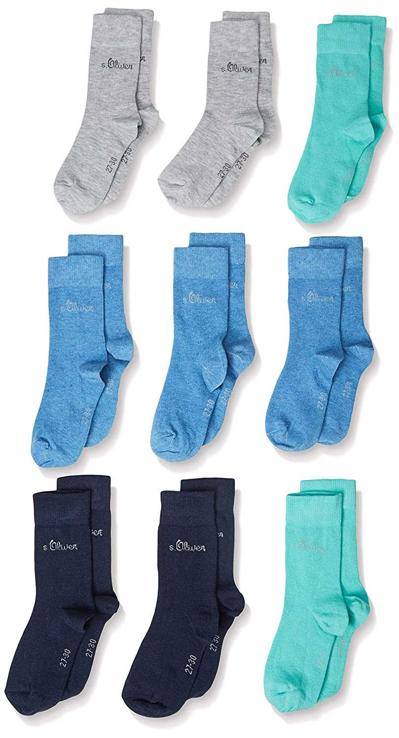 Pack of 9 s.Oliver Socks Boys Calf Socks