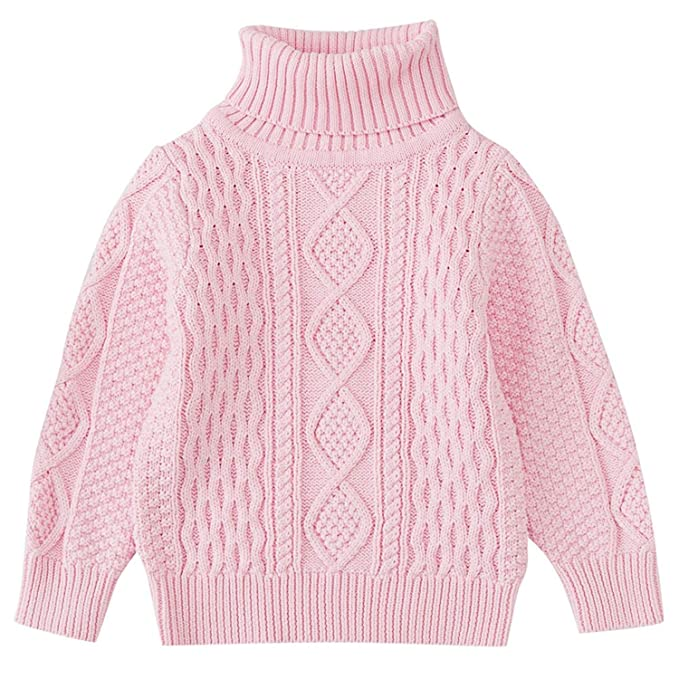 6ed6f7e942 Amazon.com  Knitted Sweater Solid Sewing Warm Tops Outfit Clothes ...