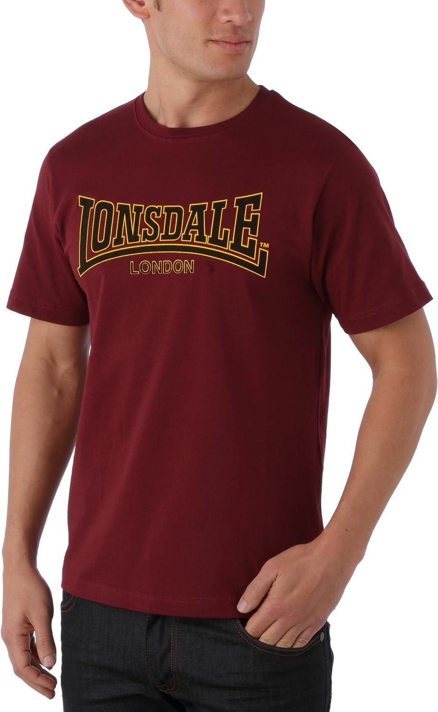 Lonsdale T-Shirt Slim Fit Classic Maglia a Maniche Lunghe Unisex-Adulto
