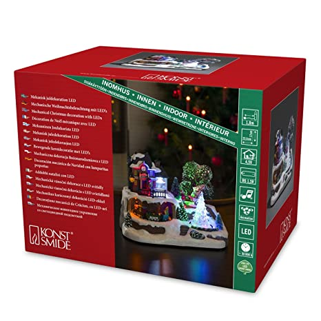 Konstsmide Weihnachtsbeleuchtung.Konstsmide Led Animated Musical Christmas Scene Mains Or Battery Train Station 3446 000