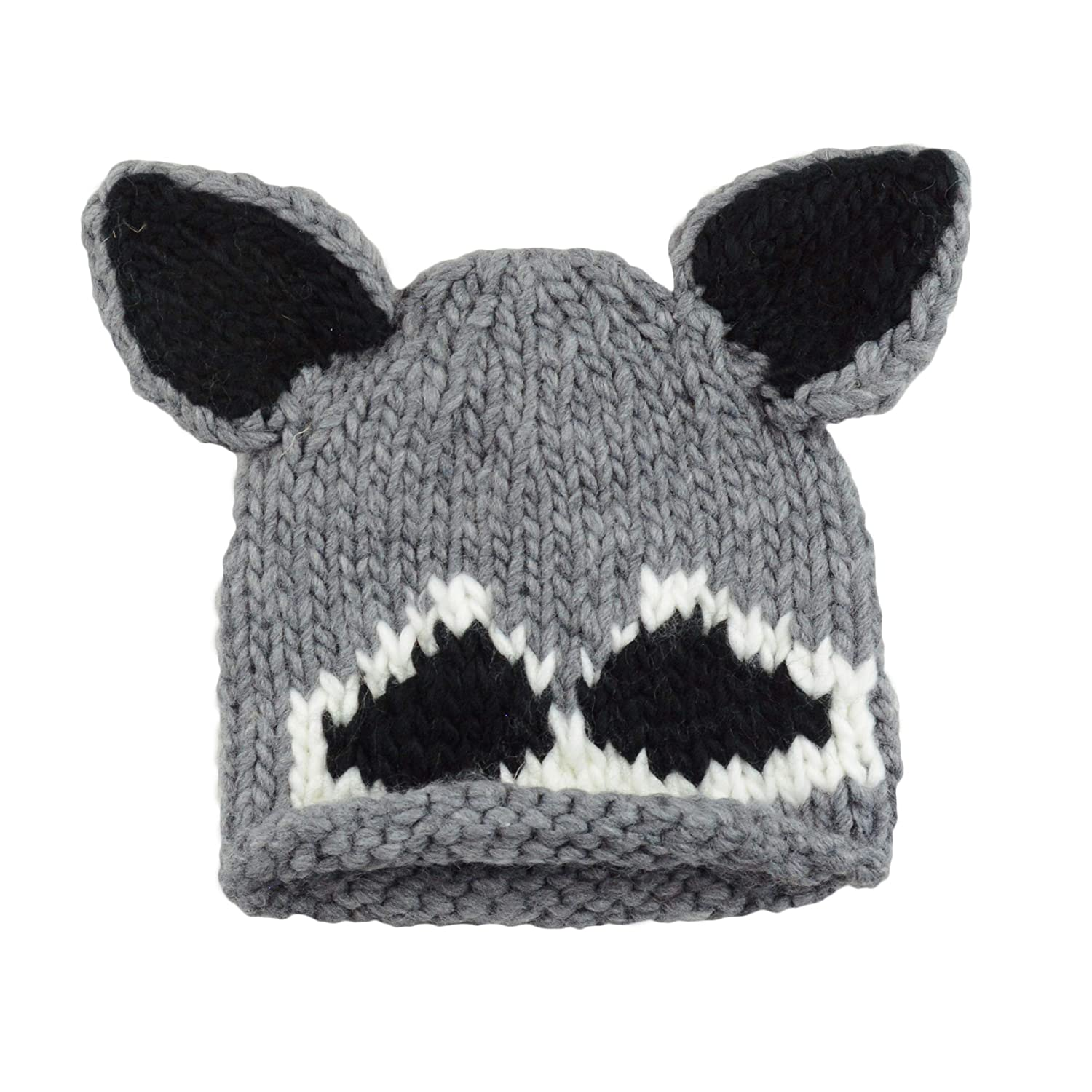b07a4736807 Amazon.com  Roscoe Raccoon Hand Knit Hat (Small 12-24 Months