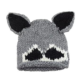 Amazon.com  Roscoe Raccoon Hand Knit Hat (Small 12-24 Months 02eb33c2e02