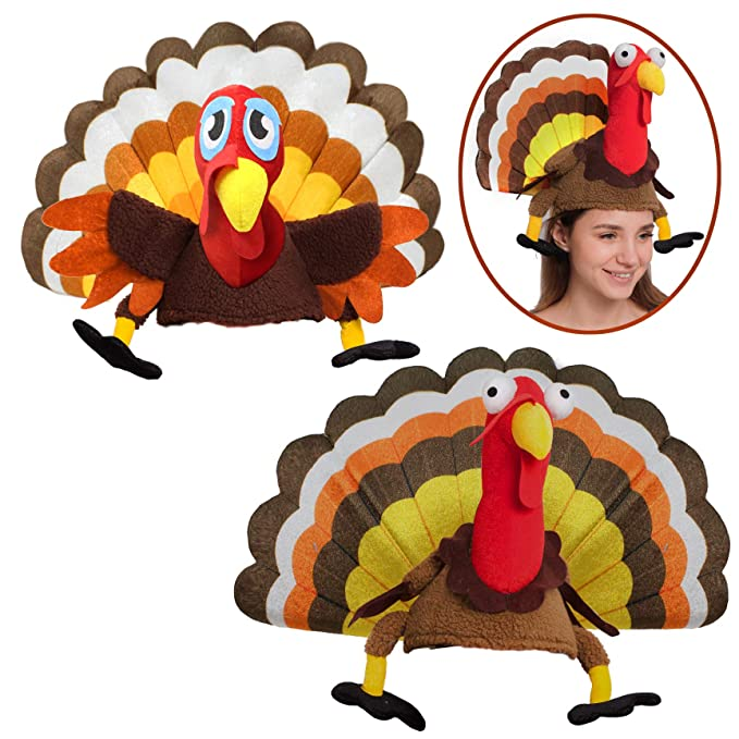 Spooktacular Creations 2 Turkey Hats For Happy Thanksgiving Party Costume Outfit Dress Decorations