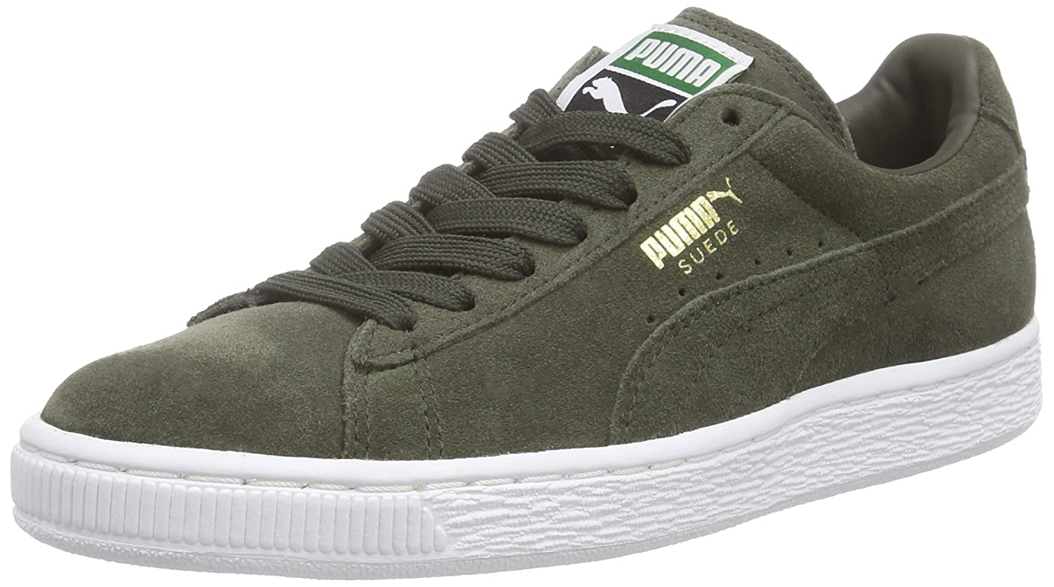 Puma Unisex-Erwachsene Suede Classic + Low-Top  45 EU|Gr眉n (Forest Night-white 65)