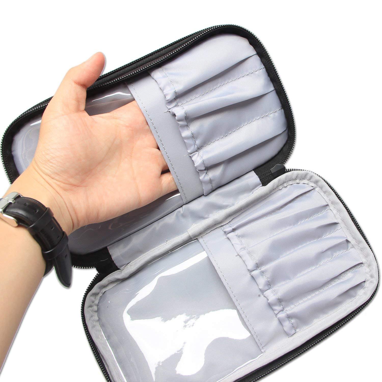 Accessoires de maquillage et outils- No accessoires inclus, Medium, Purple Voyage Pinceaux Maquillage sac pour Pinceaux maquillage 23cm//8.8 pouce au max Teamoy Trousses /à maquillage