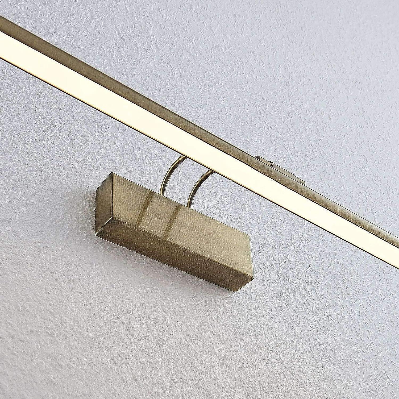 aplique para Sal/ón /& Comedor aplique LED 1 llama, A+ de LINDBY LED L/ámpara de pared Mailine en Bronce hecho de Metal e.o