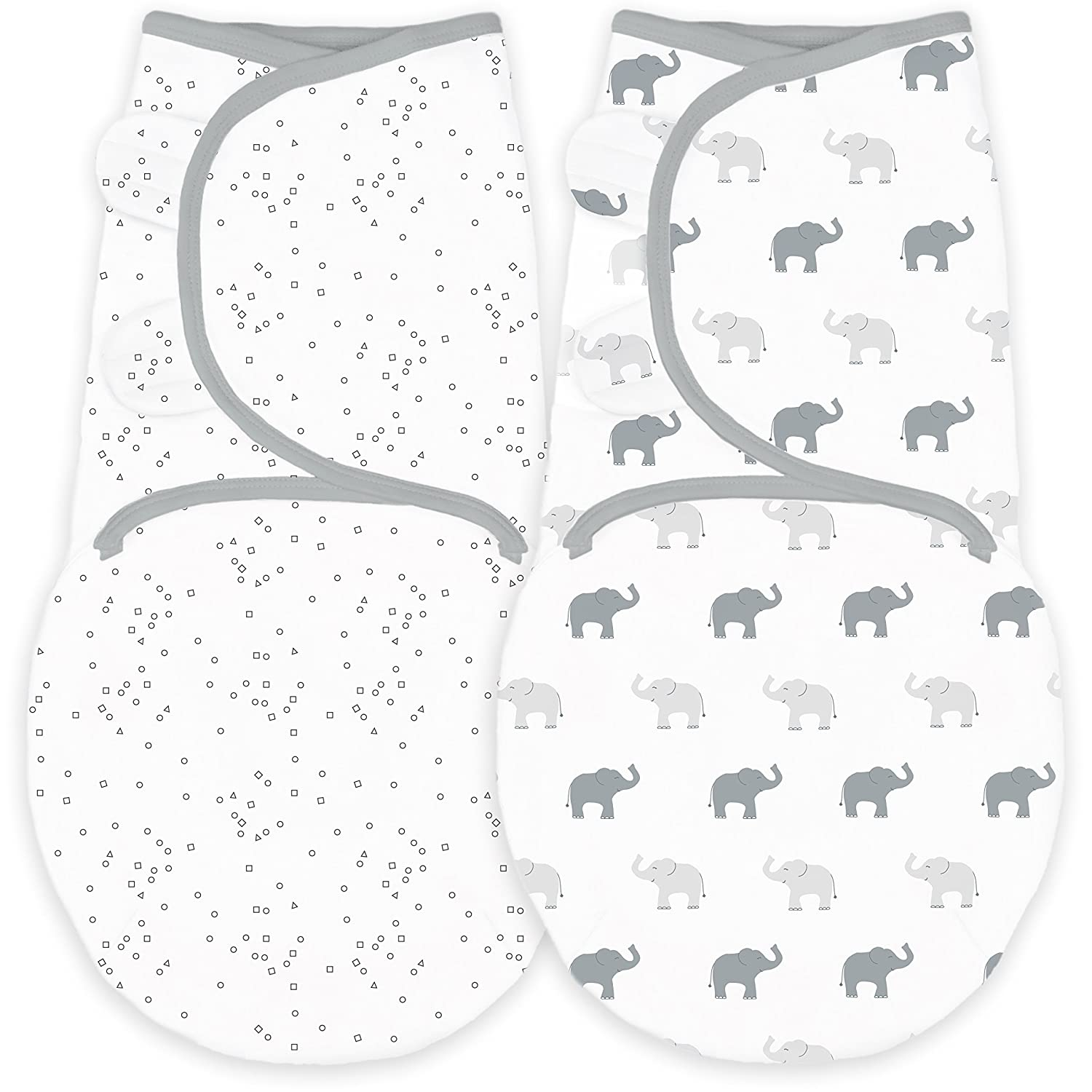 Lot de 2 couvertures//langes r/églables pour b/éb/é Amazing Baby by SwaddleDesigns
