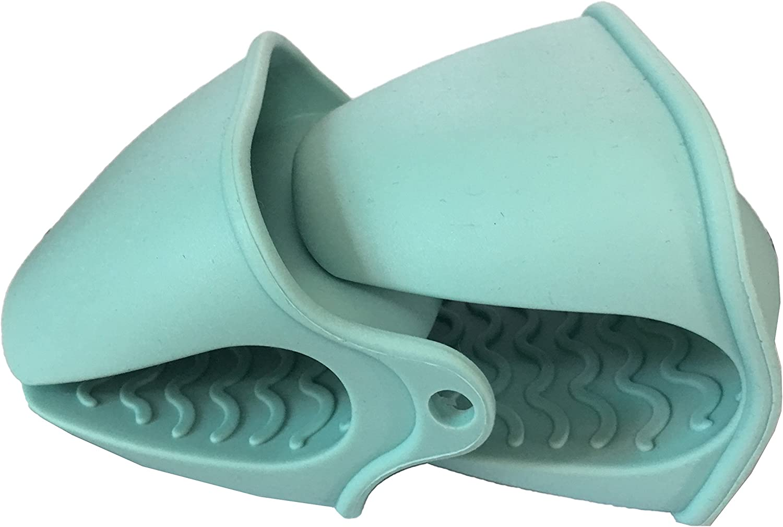 2pc Kitchen Glove Heat Resistant Grip Baking BBQ Mitt Oven Pot Holder Silicone