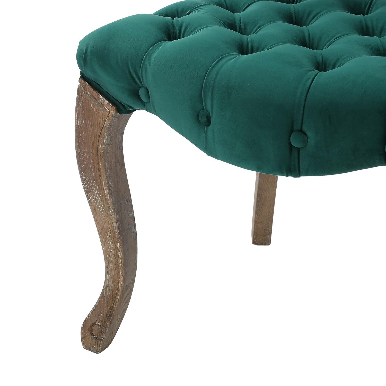 Amazon Elizabeth Tufted Dark Green New Velvet Fabric Dining