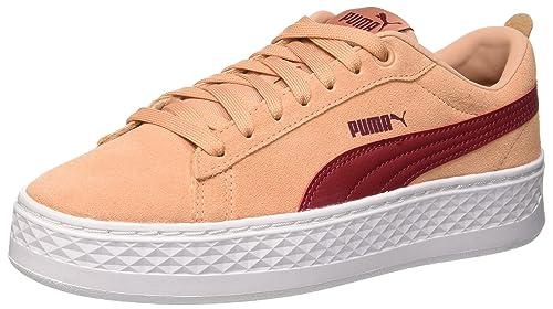 dbe8ed65cf93fa Puma Damen Smash Platform SD Sneaker Pink (Dusty Coral-Pomegranate) 36 EU