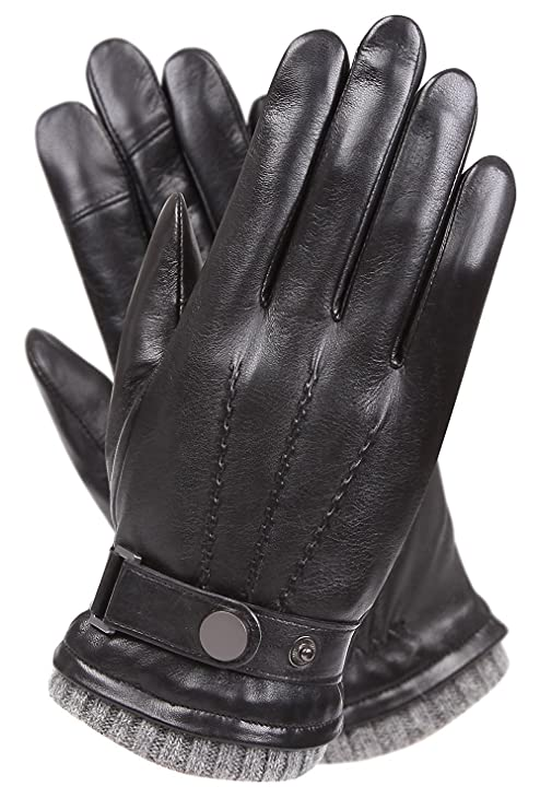 Warmen's Men's Texting Touchscreen Winter Warm Nappa Leather