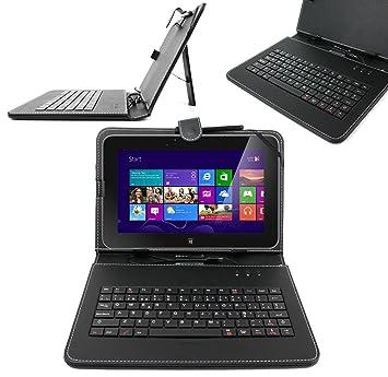 DURAGADGET Funda/Teclado ESPAÑOL Con Letra Ñ Para Tablet Dell XPS 10 / Dell LATITUDE 10 Con Conexión MicroUSB + Lápiz Stylus: Amazon.es: Electrónica