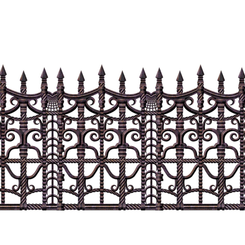 amazon com beistle 00908 1 piece creepy fence border 24 x 30
