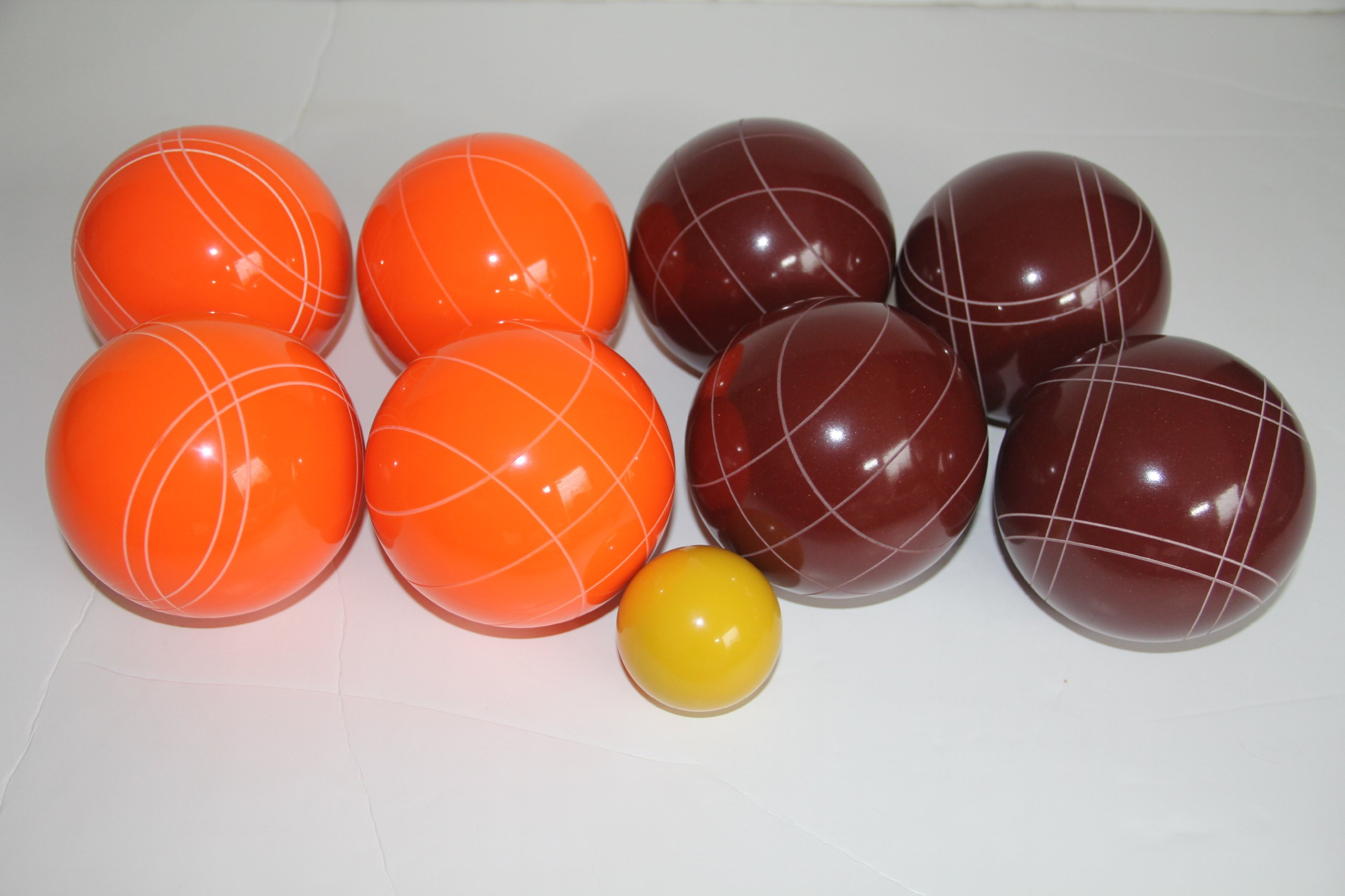 Premium Quality Epco Tournament Set - 110mm Red and Orange Bocce Balls - No BAG Option [Toy] by Epco
