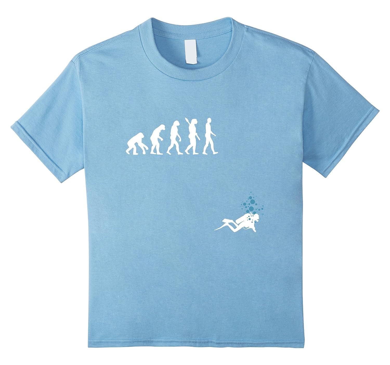 Evolution Funny Scuba Diving T Shirt-Tovacu