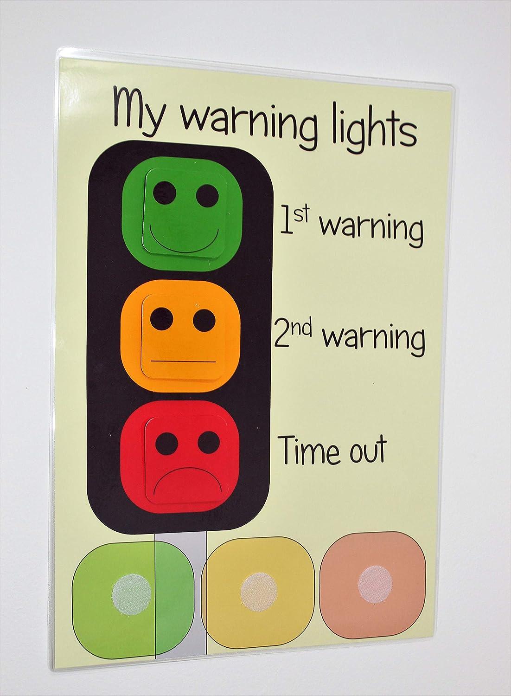 Happy Learners TRAFFIC LIGHT BEHAVIOUR WARNING CHART Children Kids Behaviours Autism SEN