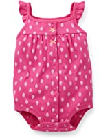 Carter's Baby Girls' Ruffled Snap-Up Romper