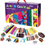 GoodyKing Kids Arts & Crafts Vault Supplies - 1100+ Materials Art and Craft Kit Toy Busy Board Box for Kid Girls Boys Teens A