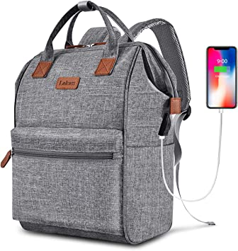 Water Resistant 15.6 Inch School Computer Rucksack Laptop Backpack College Business Travel Durable Laptop Bag with USB Charging Port for Men//Women-Pink