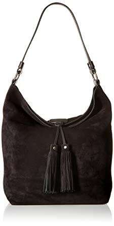 Amazon.com: FRYE Clara Hobo Suede Hobo Bag,Black,One Size: Clothing