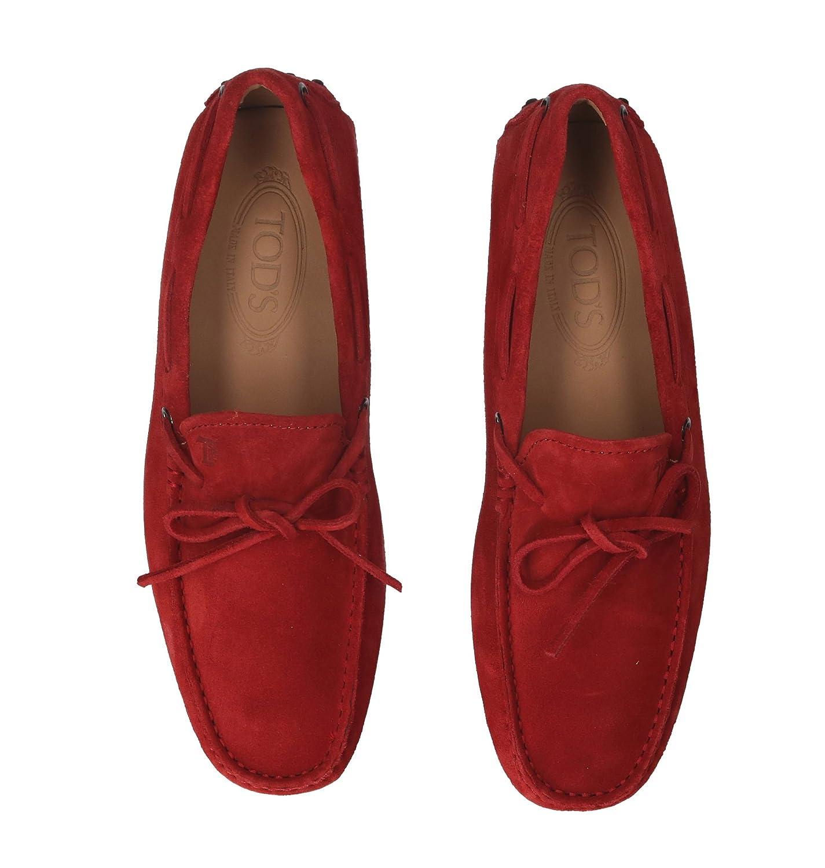 Tods Hombre Xxm0gw05470re0r007 Rojo Gamuza Mocasín: Amazon.es: Zapatos y complementos