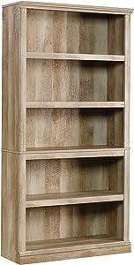 Sauder Select Collection 5-Shelf Bookcase, Lintel Oak finish