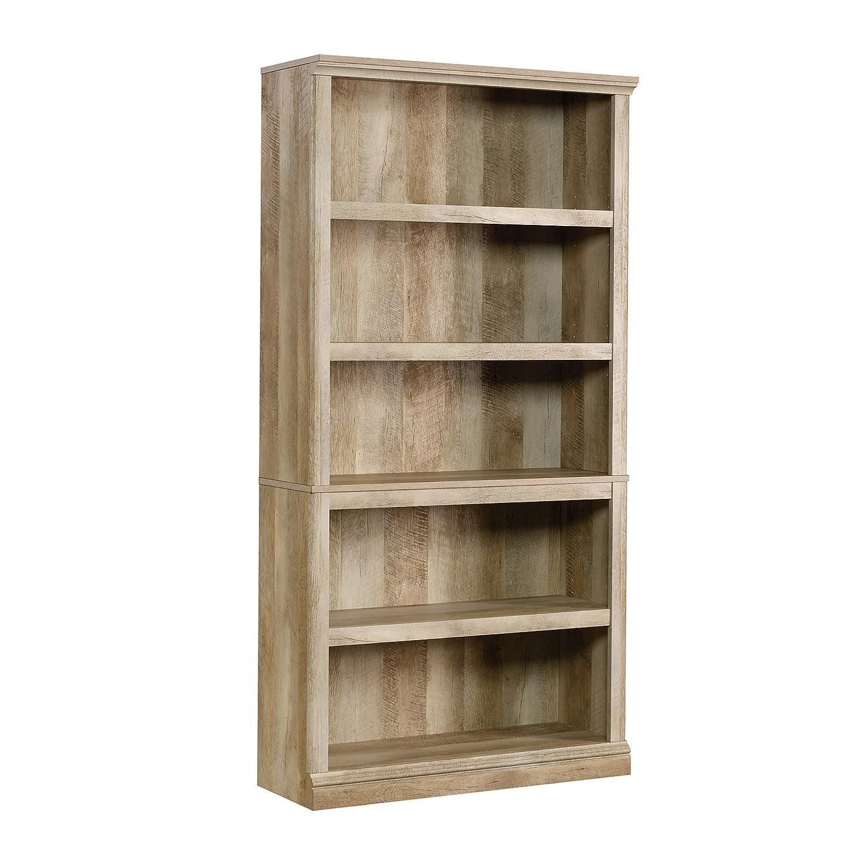 Sauder 5-Shelf Bookcase, Lintel Oak finish