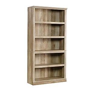 """Sauder 420174 Miscellaneous Storage 5-Shelf Bookcase L: 35.28"""" x W: 13.23"""" x H: 69.76 Lintel Oak"""