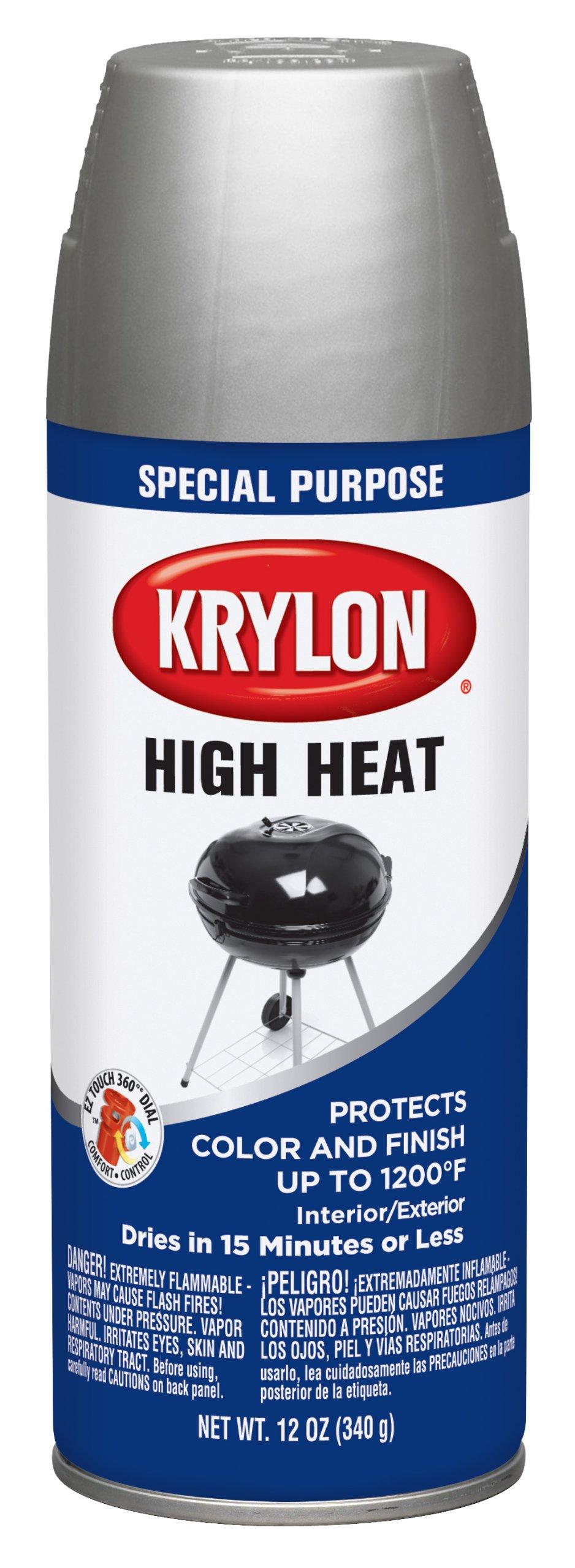 Krylon K01407000 Aluminum High Heat and Radiator Paint - 12 oz. Aerosol