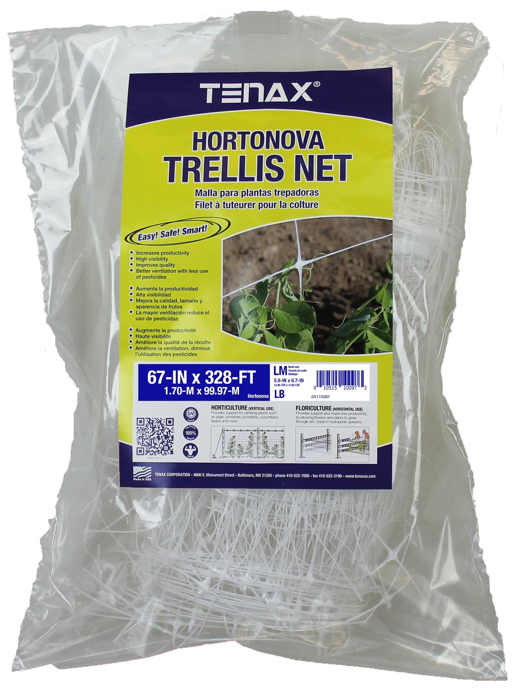 Tenax Hortonova Plant Trellis Net Lm, 67'' x 328', White