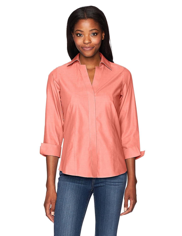 e2ffa76de8876 Foxcroft Women s Taylor Essential Non-Iron Blouse at Amazon Women s  Clothing store  Button Down Shirts