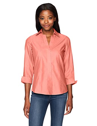 8f42e02789 Foxcroft Women s Taylor Essential Non-Iron Blouse at Amazon Women s ...
