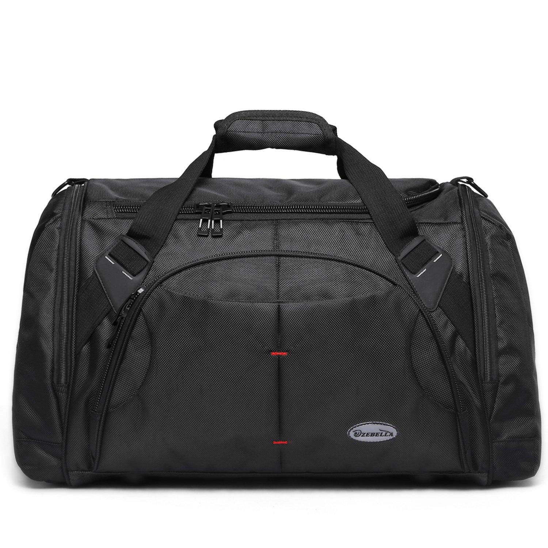 Amazon.com  ZEBELLA Black Travel Duffel Bags Tote Sports Gym Weekender Shoulder  Bag Handbag Large  Shoes b6e6ee9fba