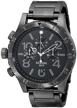 Nixon 48-20 - Reloj Unisex de Acero Inoxidable Recubierto Negro: Nixon: Amazon.es: Relojes