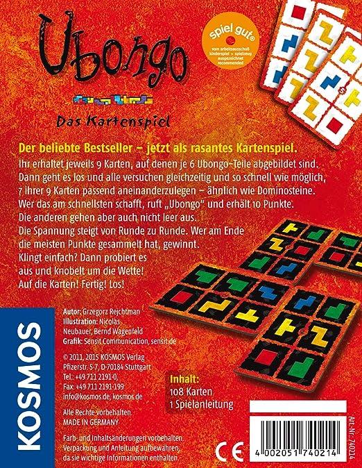 KOSMOS - Juego de cartas, de 2 a 4 jugadores [importado de Alemania]: Rejchtman, Grzegorz: Amazon.es: Juguetes y juegos