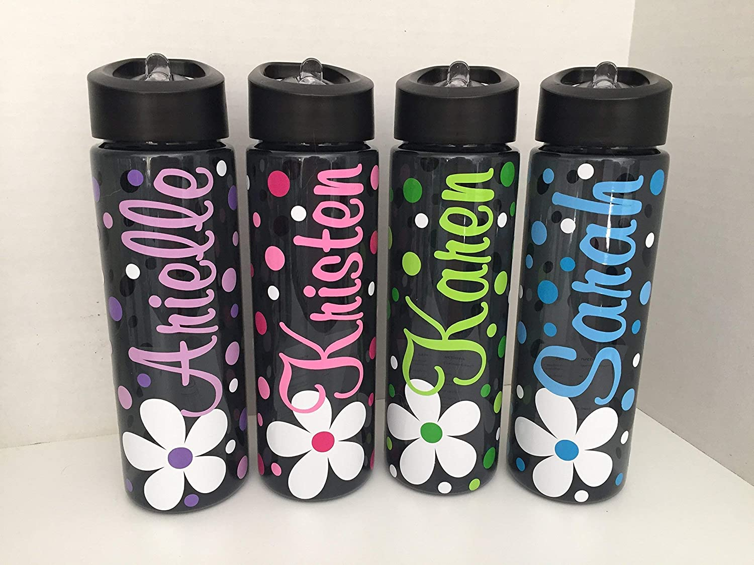 Childrens Personalised Named Fliptop Drinks Bottle with Straw  5 Yrs New