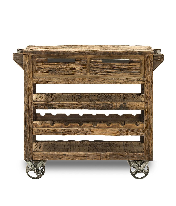 SIT-Möbel 6187-01 Küchenwagen Thar, recyceltes Altholz, 115 x 45 x 90 cm, braun