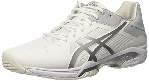 Asics Gel Solution Speed 3 Scarpe da Ginnastica Donna Bianco White/Silver 3