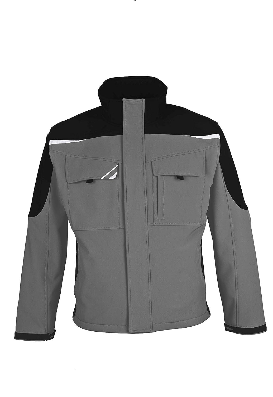 BESTWORK Softshell Jacke grau schwarz B00MUSF6QI Bekleidung Praktisch und wirtschaftlich