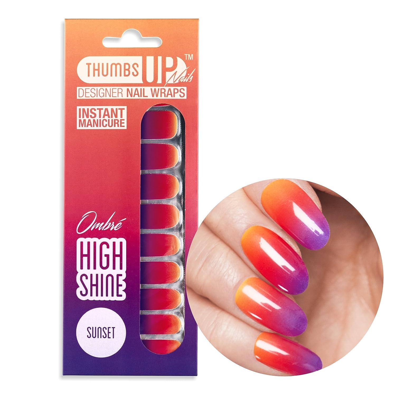 ThumbsUp Nails Sunset Ombre Nail Wraps / Self-adhesive / Nail Foil ...