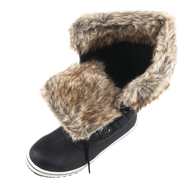 Shenji Damen Schneestiefel Winter Halbschaft Stiefelschuhe mit Schnürsenkel Bequem H7630 H7630 H7630 2e2bab