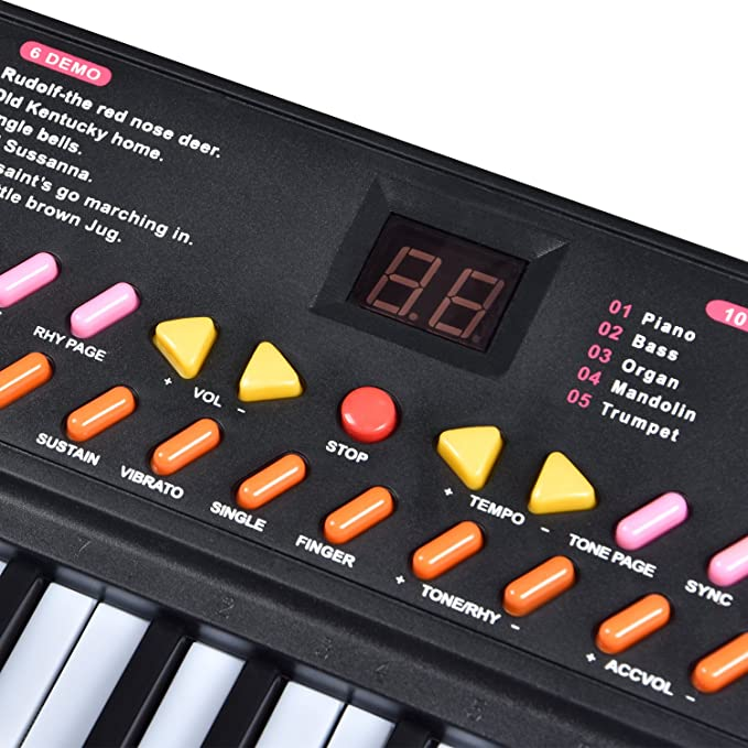 Amazon Charavector 54 Key Childrens Electric Music Keyboard