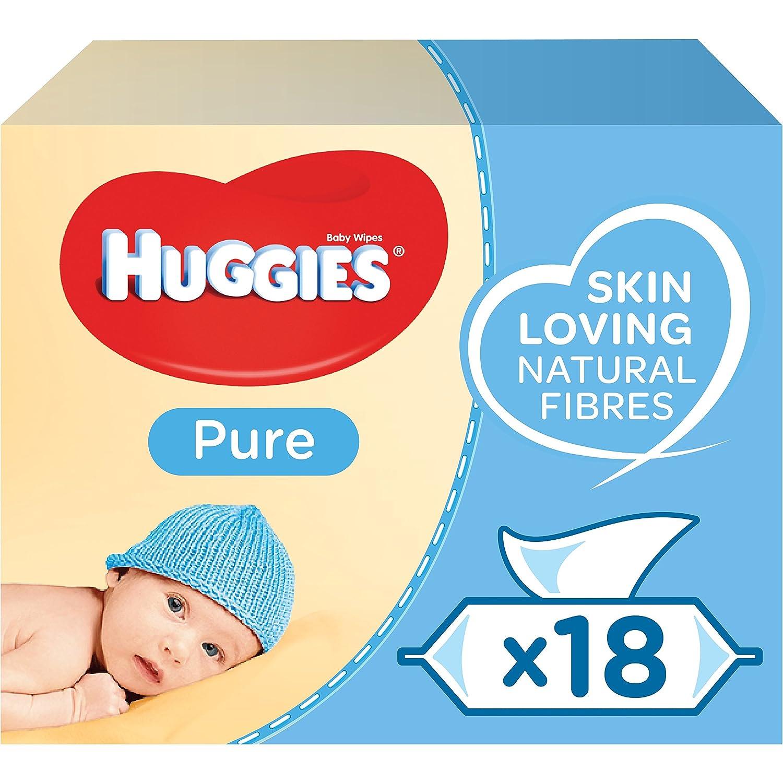 Huggies Pure Baby-Reinigungstücher, 18Packungen (1008Tücher insgesamt) Kimberly-Clark 2434118
