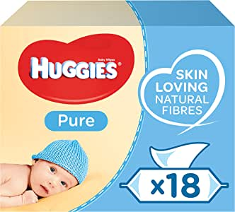 Huggies Pure Toallitas para Bebé - 18 paquetes de 56 unidades (1008 Toallitas): Amazon.es: Salud y cuidado personal