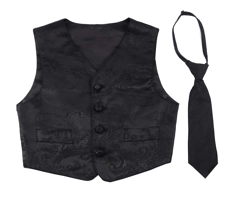 Good Shirt TM Gilet festivo per ragazzi con cravatta rossa o nera