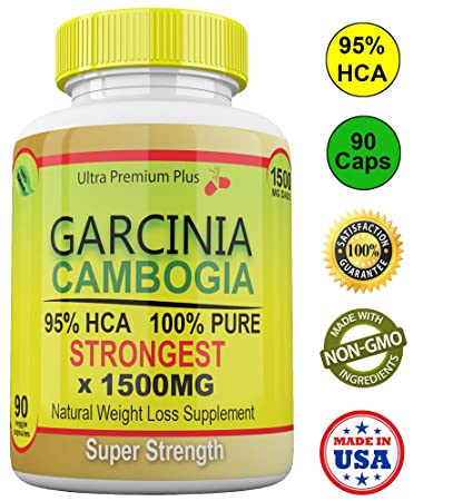 Strongest 1500mg Garcinia Cambogia 100 Pure 95 Hca Extract Extreme Weight Loss